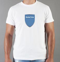 Футболка с принтом Dacia (Дачия) белая 001