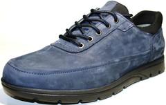 Мужские кроссовки туфли кожаные Cabani Blue