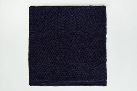 Плед вязанный детский хлопок/акрил 80*90 см Темно-синий