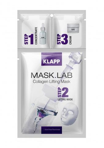 Трёхшаговый набор экспресс-ухода за кожей Collagen Lifting MASK.LAB, KLAPP