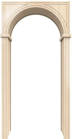 Арка универсал 200 ПВХ (беленый дуб), фабрика Европейские арки