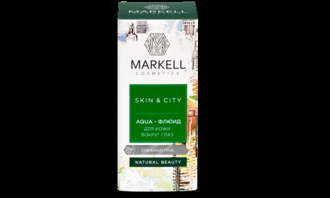 Markell Skin&City Aqua-флюид для кожи вокруг глаз Снежный гриб 10мл