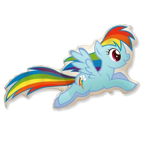 Шар фигура из фольги пони радуга из мультфильма Май литл пони