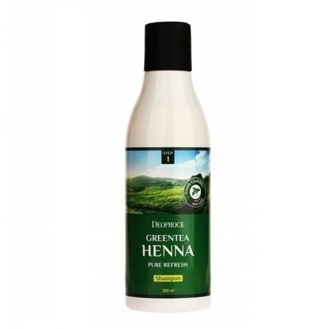 Шампунь для волос с зеленым чаем и хной DEOPROCE GREENTEA HENNA PURE REFRESH SHAMPOO 200 мл
