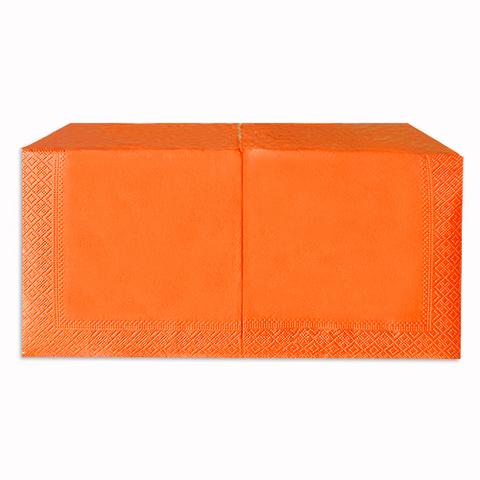 Салфетки 33х33 см оранжевые интенсив двухслойные 200 шт.