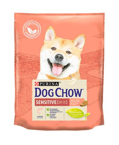 Purina Dog Chow сухой корм для собак с чувствительным пищеварением (лосось) 2,5 кг