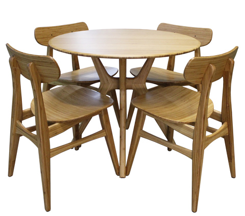 Комплект обеденной мебели Greenington SITKA, бамбук, карамель
