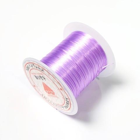 Спандекс резинка для браслетов 0,8 мм (без оплетки) светло-сиреневый