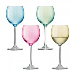 Набор из 4 бокалов для вина Polka ,400 мл пастельный, фото 1