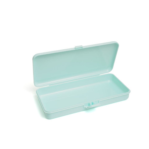 Пластиковый контейнер для хранения прямоугольный (мятный)