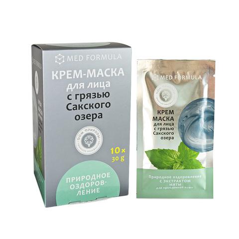 МДП Крем-маска ПРИРОДНОЕ ОЗДОРОВЛЕНИЕ для проблемной кожи с грязью Сакского озера (саше пакет 30г)