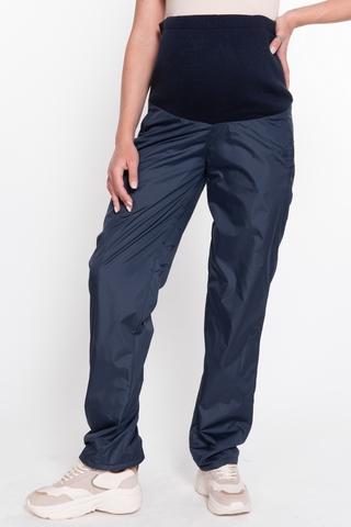 Утепленные брюки для беременных 11170 синий