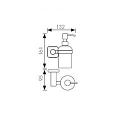 Дозатор для жидкого мыла настенный Kaiser Vera BR KH-4710 схема