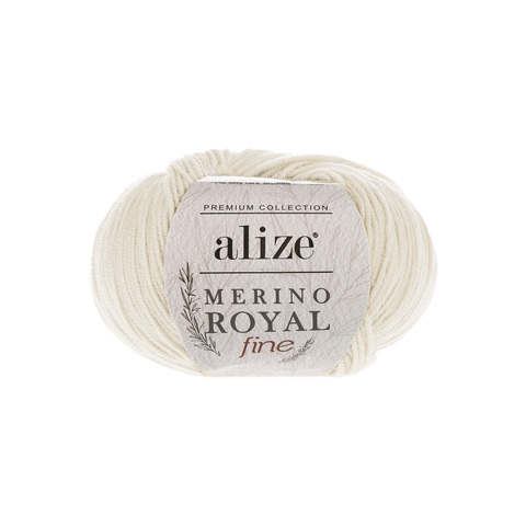 Alize Merino Royal Fine молочный 62