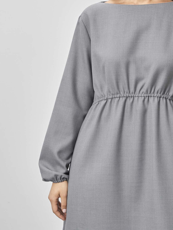 Платье Angela с резинкой на талии, Серый