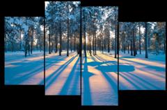 "Модульная картина ""Лес зимой"""