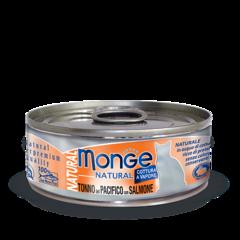 Monge Natural консервы для кошек с тунцом и лососем 80гр