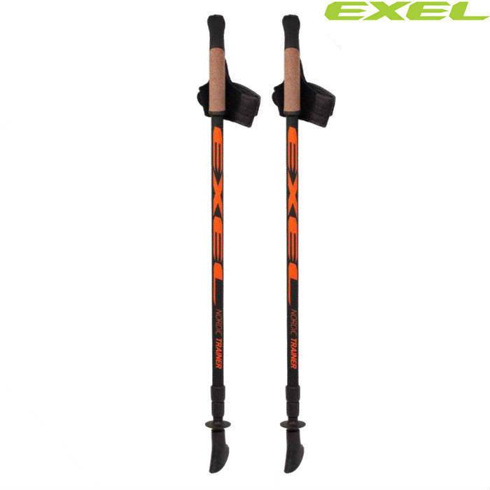Скандинавские палки Exel Nordic Trainer Adj QEB X3 Carbon 50% Finland