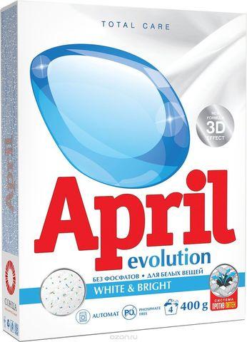 Сонца April Стиральный порошок Evolution white&bright Автомат 400 г