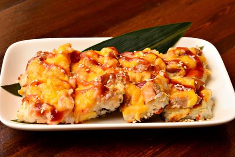 Суши пицца с морепродуктами