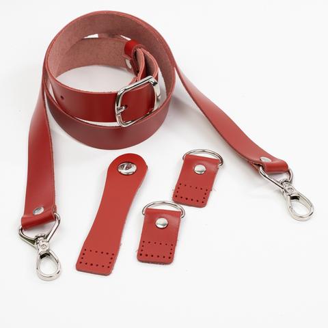 """Комплект для сумки-ракушки """"Красный"""" с ручкой через плечо"""