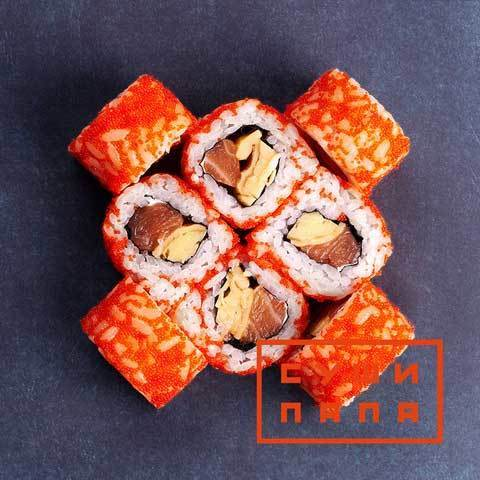 Ролл томаго с лососем