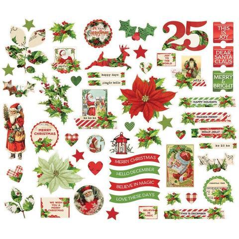 Высечки Simple Vintage Christmas -  55 шт.