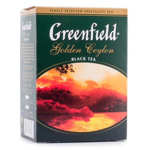 Чай чёрный листовой Greenfield Golden Ceylon 100г