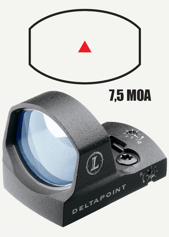 Leupold Deltapoint открытый, подсветка точка 7,5 MOA