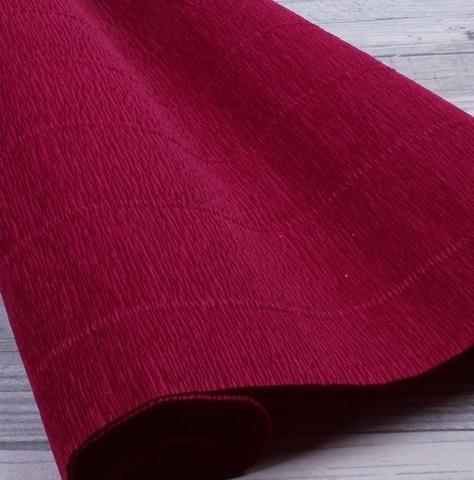 Бумага гофрированная, цвет 584 светло-бордовый, 180г, 50х250 см, Cartotecnica Rossi (Италия)