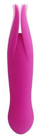 Розовый клиторальный вибростимулятор LITTLE SECRET - 16,5 см.