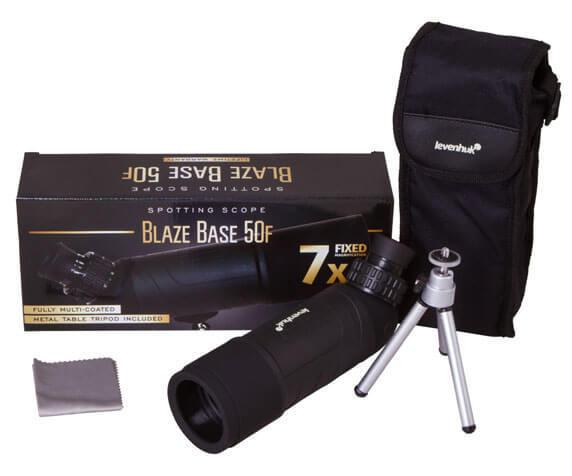 Комплект поставки Blaze BASE 50F: труба, штатив, салфетка, чехол, коробка