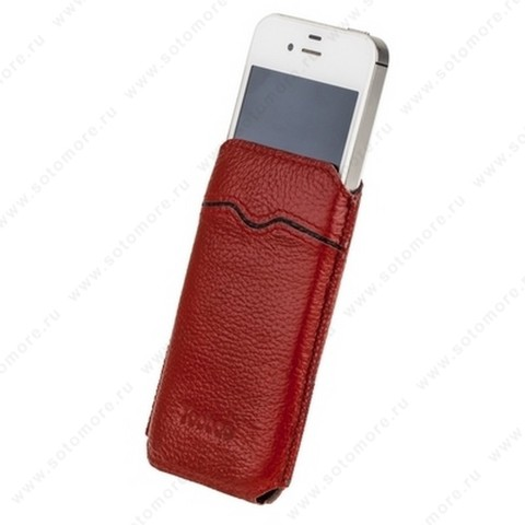 Чехол-пенал кармашек Yoobao для iPhone 4S/ 4 - Yoobao Beauty Leather Case Red