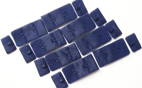 Застежка, 1х2, 1,5 см, темно-синий, шт