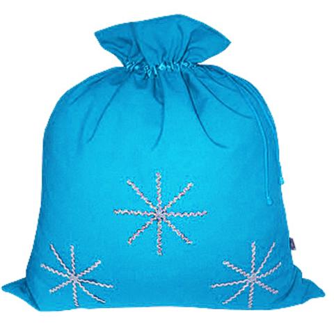Голубой мешок со снежинками