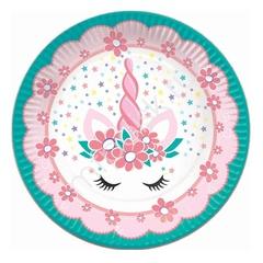 Тарелки бумажные Единорог Pink&Tiffany 6 шт