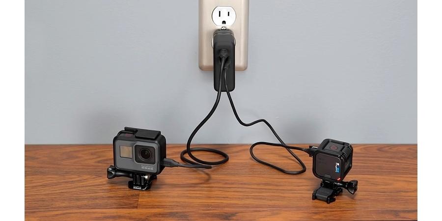 Сетевое зарядное устройство GoPro Supercharger (AWALC-002-RU) пример использования