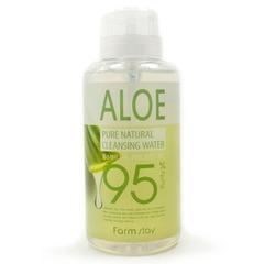 Farmstay Pure Cleansing Water Aloe - Очищающая вода для лица с алоэ