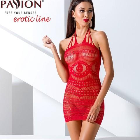 Красивое платье сетка с узорами красное