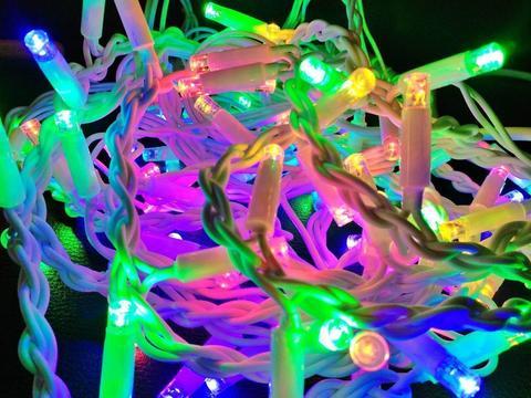 Дощ-гірлянда Вулична 120 LED CX 3 м. кольорова