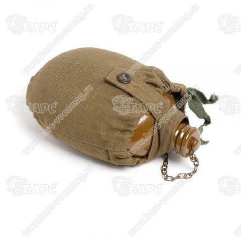 Фляга армейская крашеная в чехле