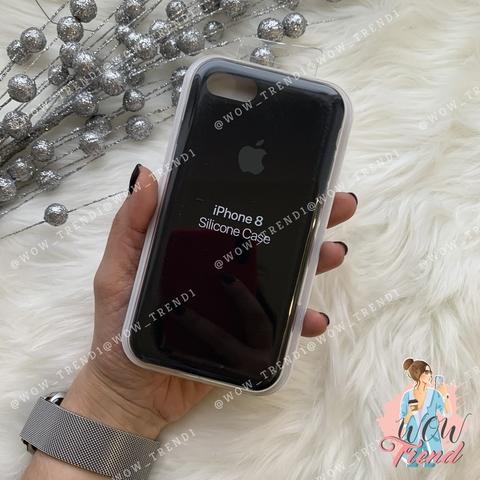 Чехол iPhone 7/8 Silicone Case /black/ черный 1:1