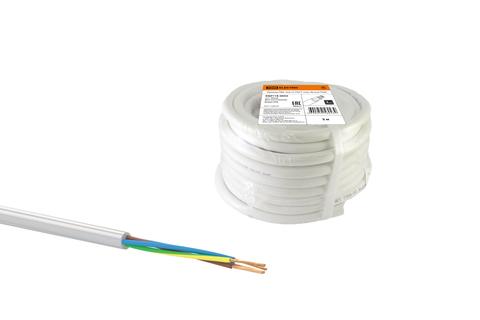 Провод ПВС 4х0,75 ГОСТ (30м), белый TDM