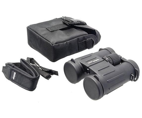 Комплект поставки бинокля Veber ED 10 42, серый