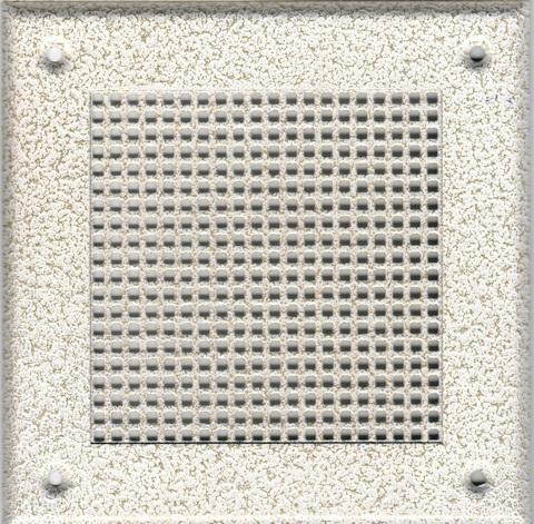 Решётка 210*250 белый антик, мелкая клетка