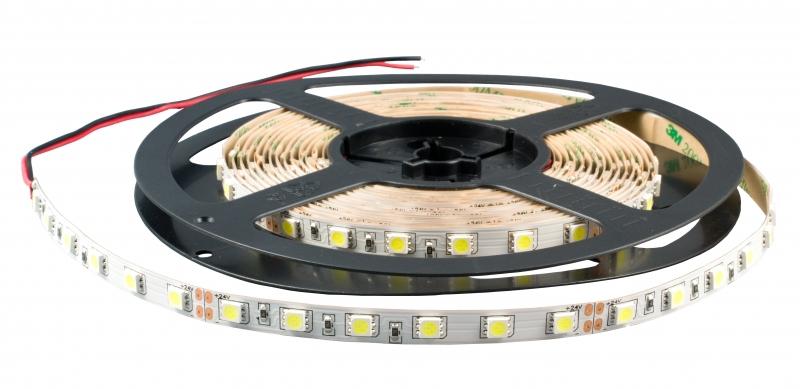Лента светодиодная SMD5050-60-20-12-144-RGB 60LED/м, IP20, 12В, 14.4Вт, RGB, (У) TDM