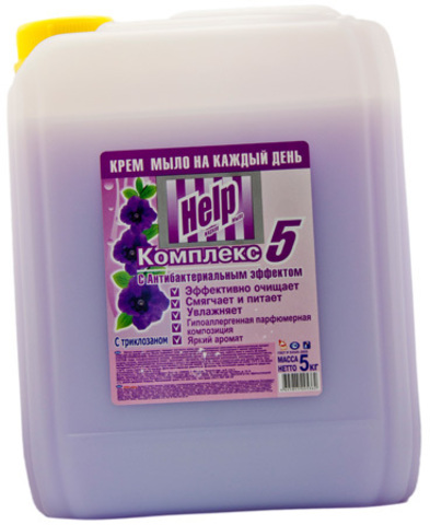 Мыло жидкое ХЕЛП 5л (в ассортименте)