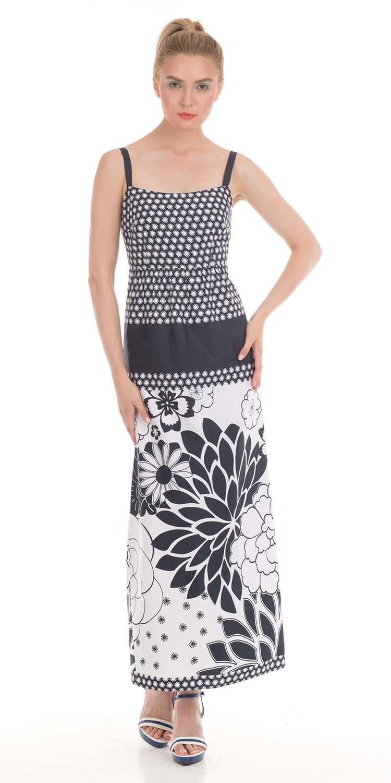 Платье З014-390 - Серо-белое платье из вискозы и хлопка с оригинальным принтом сделает ваш образ незабываемым. Длинный крой скроет бедра, а декольте и бретели подчеркнут красивые руки и длинную шею. Элегантная, приталенная модель, украшенная крупными цветами на юбке займет особое место в вашей коллекции. Платье можно надеть и на праздник, и на свидание и просто на прогулку. Комбинируя с разными аксессуарами создайте разные луки.