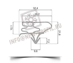 Уплотнитель для холодильника Beko CS 338020 S х.к 1135*575 мм (003)