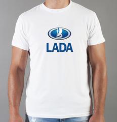 Футболка с принтом Лада (Lada) белая 008
